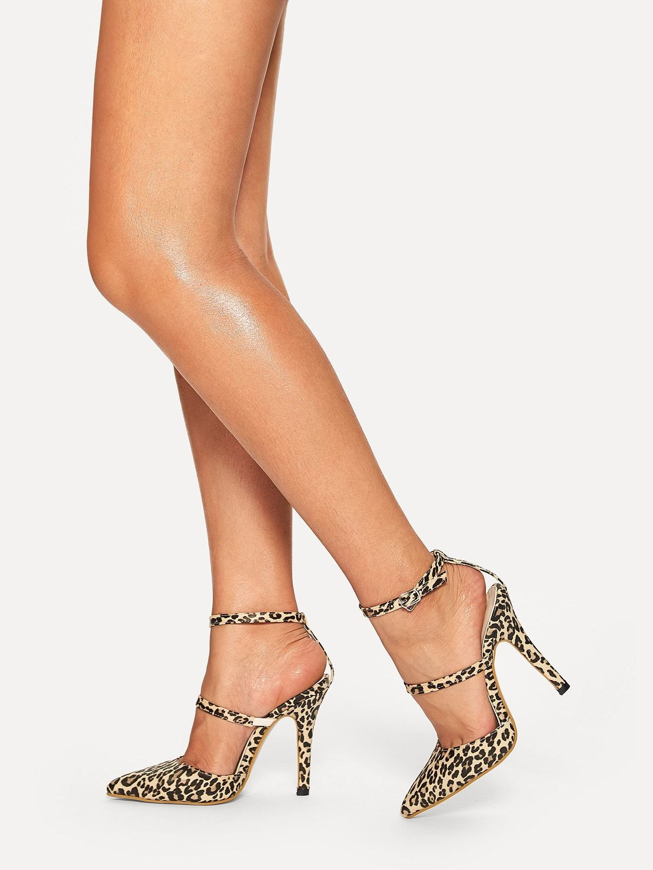 Leopard Print Point Toe Stiletto Heels