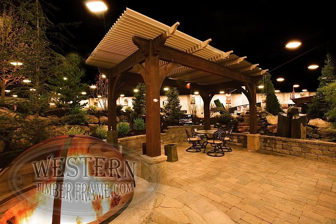 Free standing pergola with Rich Cordoba stain and