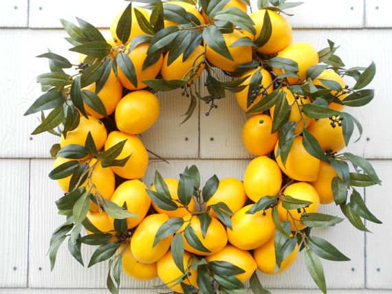 Lemon Lemon Wreath