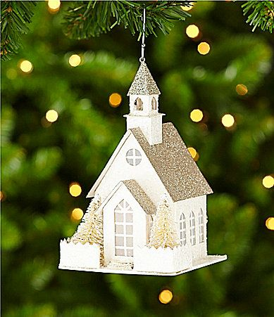 Southern Living Paper House Ornament #Dillards Christmas - southern living christmas decorations