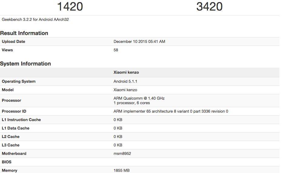 Im GeekBench ist nun mit dem Xiaomi Kenzo das nächste Smartphone-Modell aufgetaucht, dabei könnte es sich um das kommende Xiaomi Redmi 3 handeln  http://www.androidicecreamsandwich.de/xiaomi-redmi-3-im-geekbench-geleakt-471000/  #xiaomiredmi3   #redmi3   #xiaomi   #smartphone   #smartphones   #android   #androidsmartphone