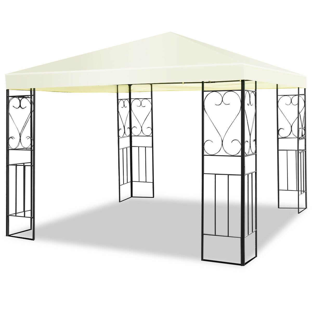 10 X10 Patio Gazebo Canopy Tent Steel Frame Shelter Patio Party Awning In 2020 Patio Tents Patio Gazebo Canopy Tent