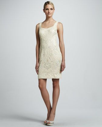 Sue Wong Beaded Sweetheart Cocktail Dress - Neiman Marcus