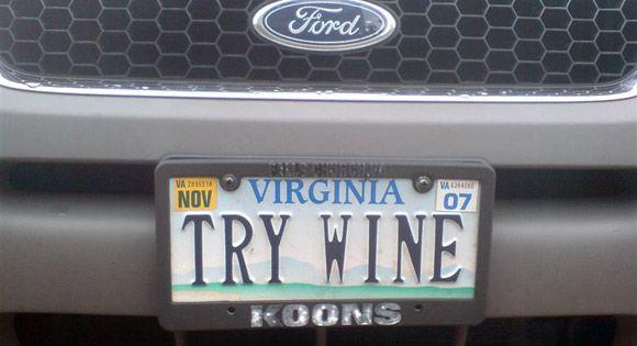 VA plate: Try Wine