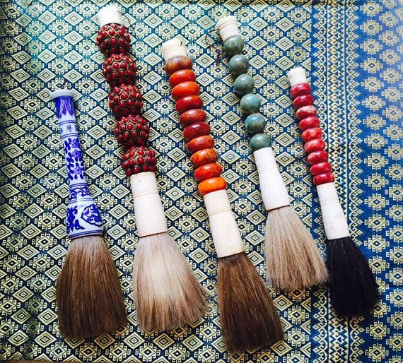 Vintage Japanese Calligraphy Brushes In Choice Of Blue White