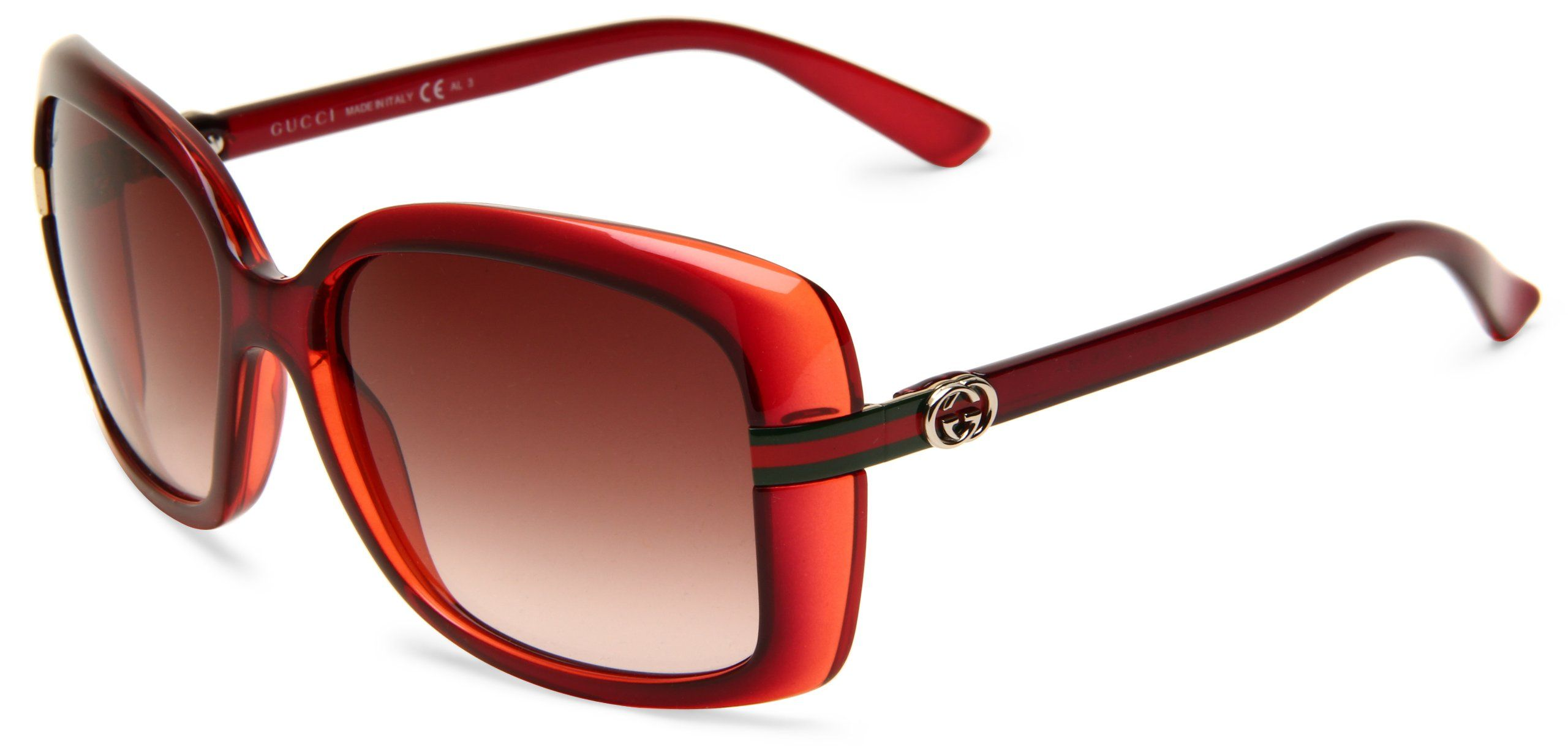 a2ee699ae4c4 Gucci Women s 3188 S Rectangle Sunglasses