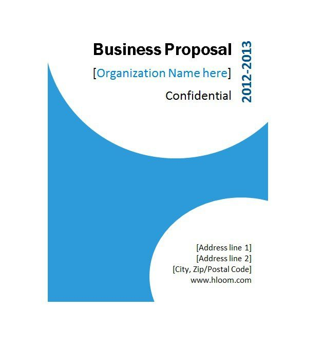 Business Proposal Template   Ideas For The House