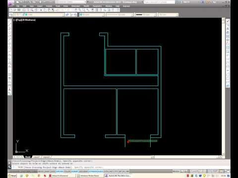 AutoCAD: How To Draw A Basic Architectural Floor Plan From Scratch.