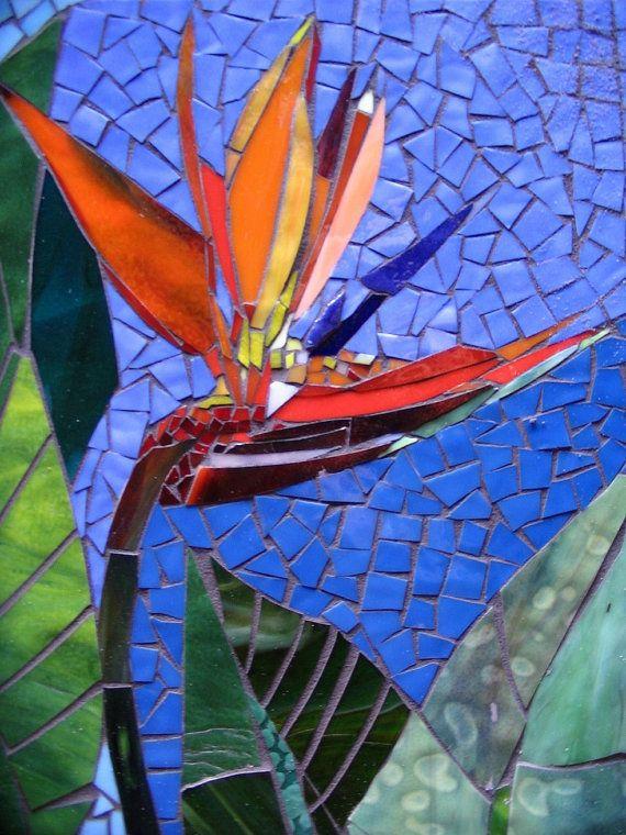 PARED EXTERIOR del mosaico arte vidrieras decoración floral
