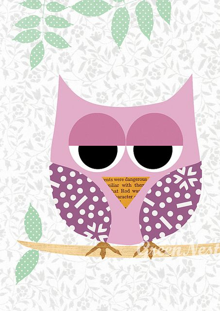 Such a cute and girly owl background. iPhone Wallpaper - specially sized & shaped to fit the screen of your iPhone.