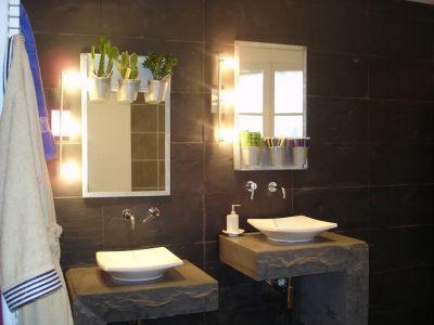 1000 images about salle de bain on pinterest sinks merlin and bath - Salle De Bain Ardoise Et Pierre