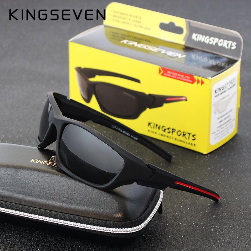 Kingseven Brand 2017 Men's Polarized Sun glasses Night