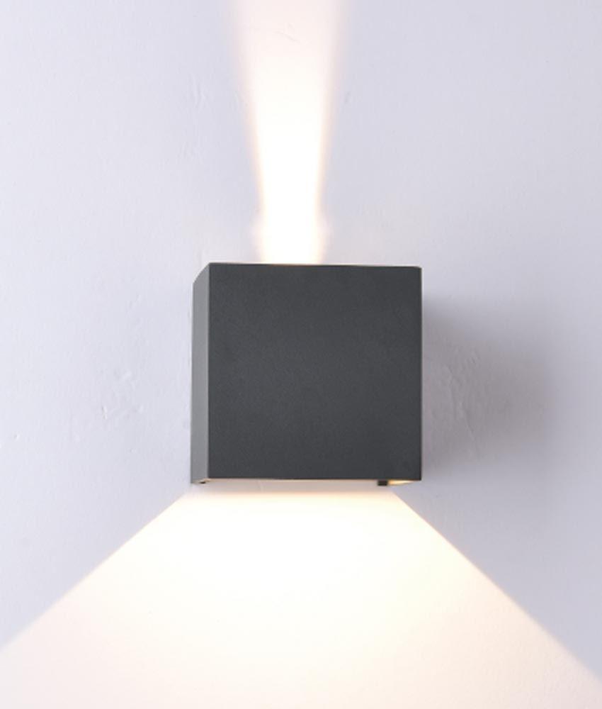 Aplique Cuadrado Led Gris Oscuro Davos Con Imagenes Apliques De Pared Paredes Iluminadas Led