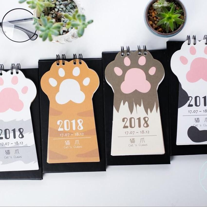 1 Pcs Lovely Dog Calendar 2018 Calendars Desk Calendar Office School Stationery Supplies 2018 Calendar Office & School Supplies