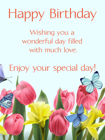 Send Free Happy Spring Birthday Card To Loved Ones On Birthday