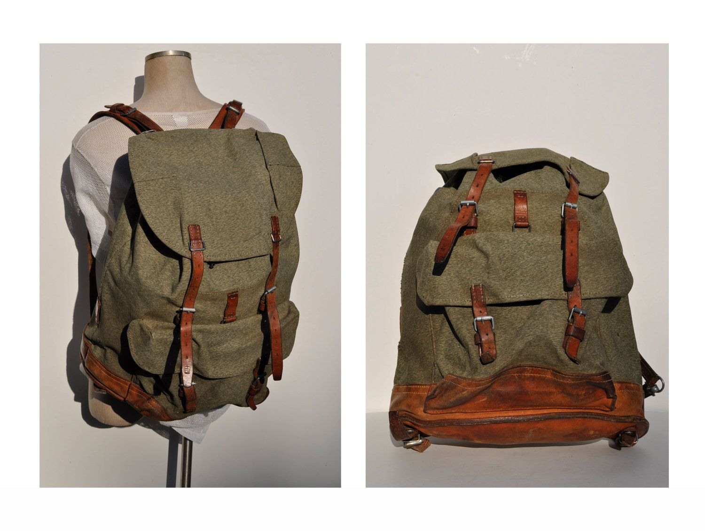 Vintage army backpacks words... fantasy