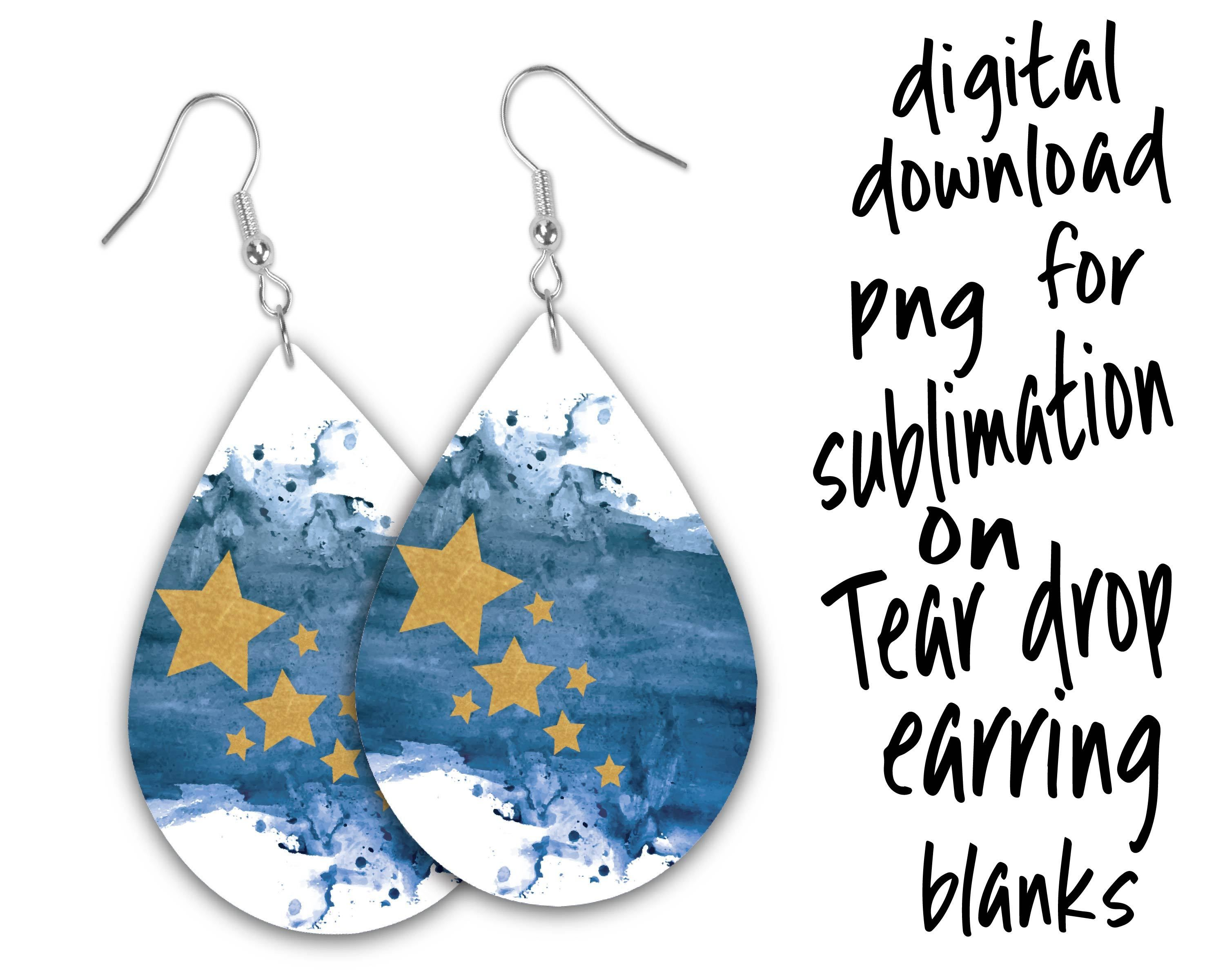 Christmas Sublimation Png For Tear Drop Earrings Drop Earrings Printable Designs Sublime