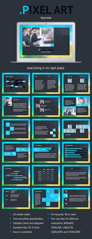 Pixel Art Keynote Template | Pinterest | Keynote, Template and ...
