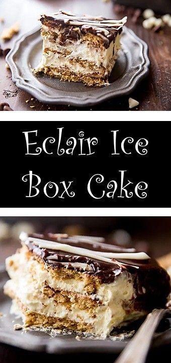 Eclair Ice Box Cake – Desserts Easy Recipes