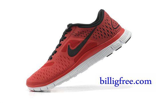 Billig Schuhe Herren Nike Free 4.0 V2 (Farbe:Vamp rot;Sohle