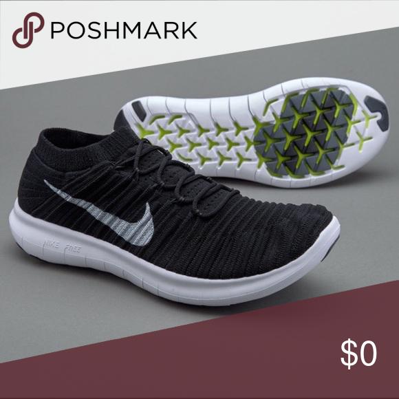 Nike Free RN Motion Flyknit Color: Black/White-Volt-Dark Grey.