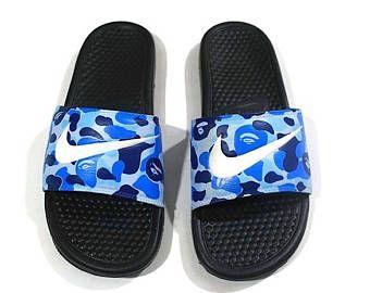 bb0138ffa24 Custom Bape Nike Slides