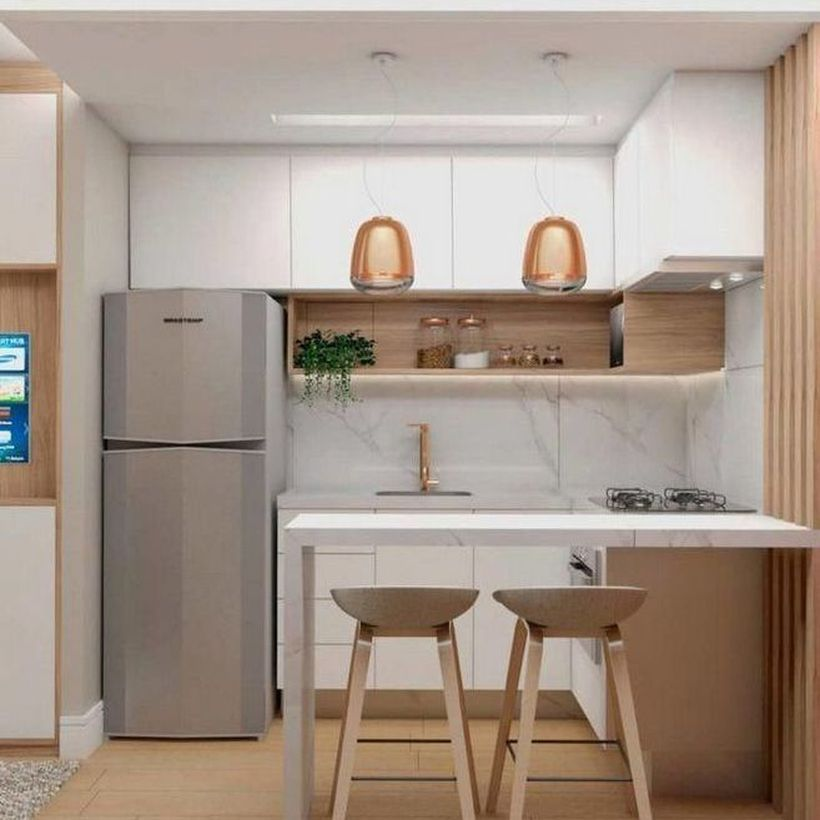 55 Creative Modern Small Apartment Design Ideas You Definitely Like Kitchen Remodel Small Kitchen Design Small Small Apartment Kitchen