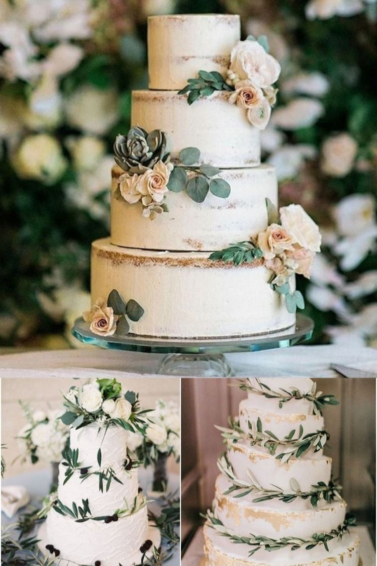 30 Simple Organic Green Wedding Cakes in 2020 Green