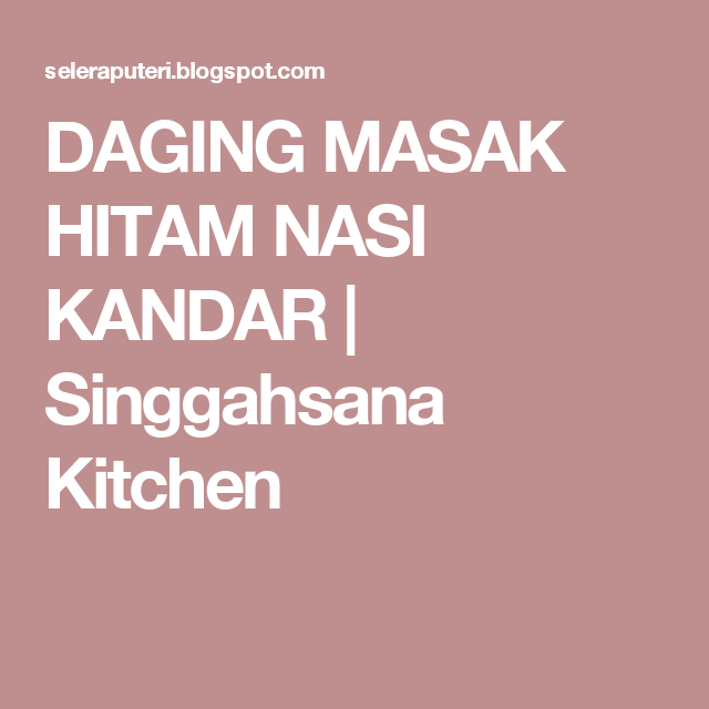 DAGING MASAK HITAM NASI KANDAR | Lockscreen, Kitchen