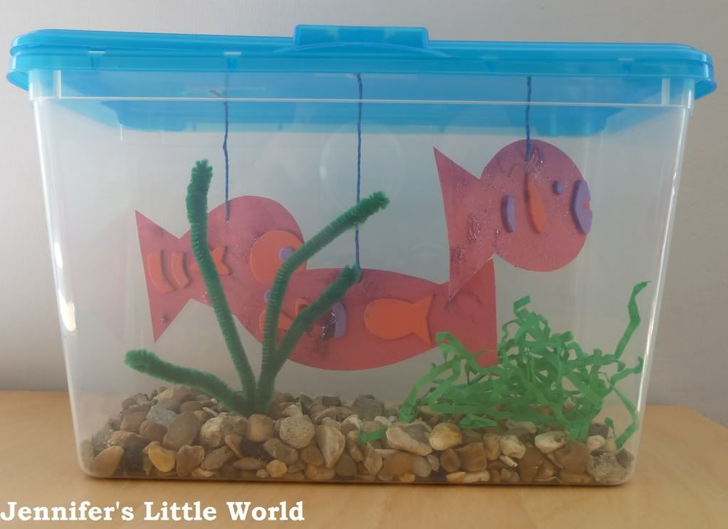 aquarium in a box visually impaired student activities animal crafts for kids crafts for. Black Bedroom Furniture Sets. Home Design Ideas