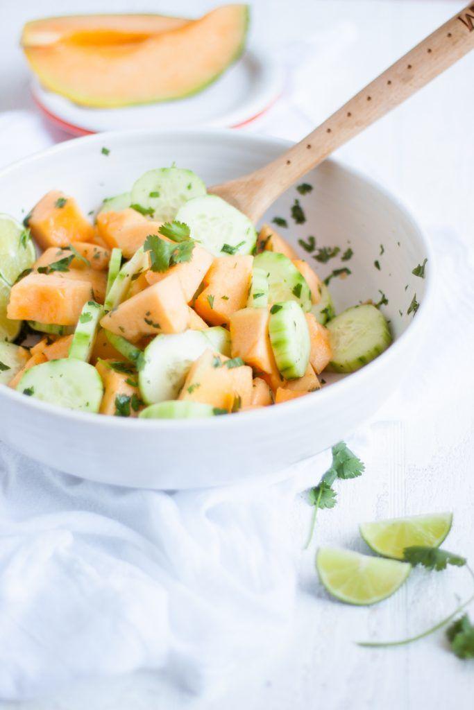 Cucumber Melon Salad #melonrecipes