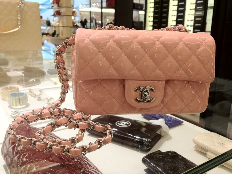 a43ff68d2e26 Chanel Mini Pink Patent Flap Bag - Cruise 2013 | Mademoiselle Chanel ...