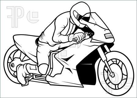 Motorcycle Racing Illustration Motorbike Illustration How To