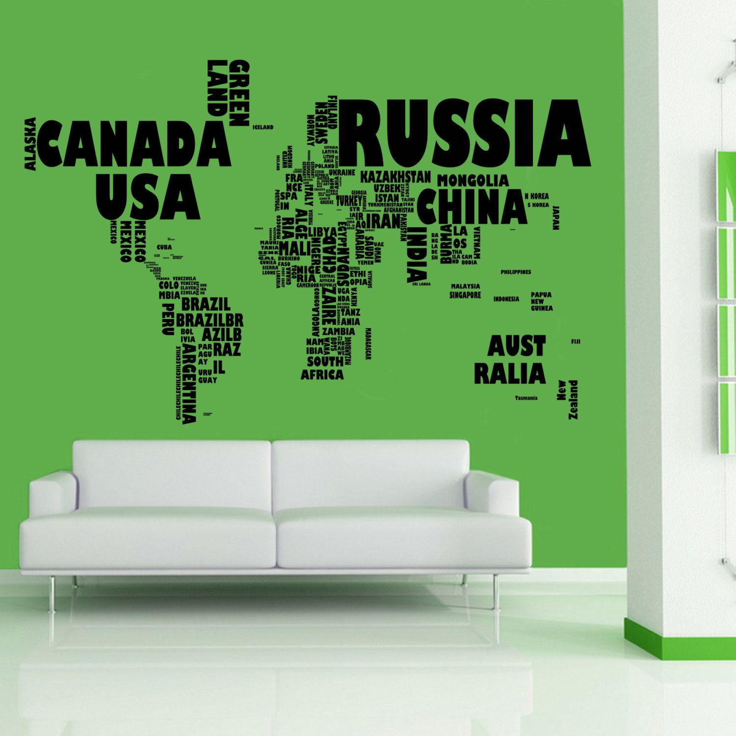 World map in words wall art sticker wa344 4099 via etsy world map in words wall art sticker wa344 4099 via etsy gumiabroncs Images