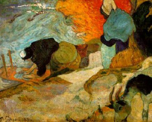 paul gauguin-las lavanderas en arlés