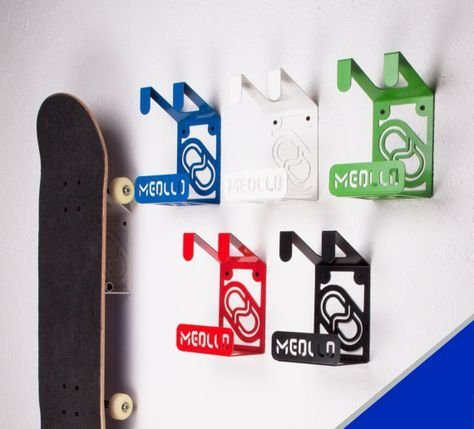 WALL SKATEBOARD RACK / Skateboard Shelf / Skateboard By MEOLLO