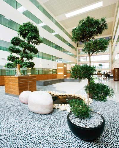 Zen water feature sofitel hotel heathrow teminal 5 - Japanese zen garden indoor ...