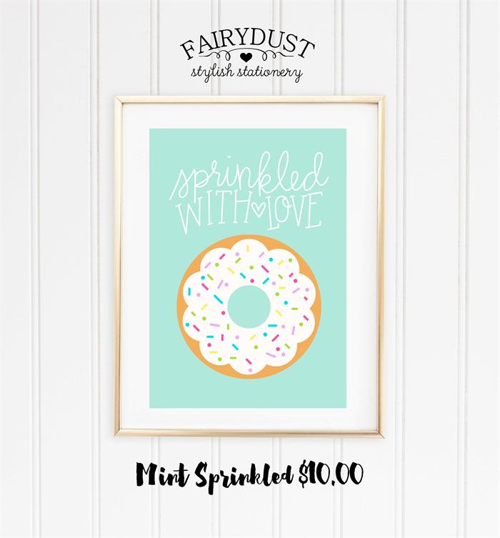 Mint Sprinkled A4 Print