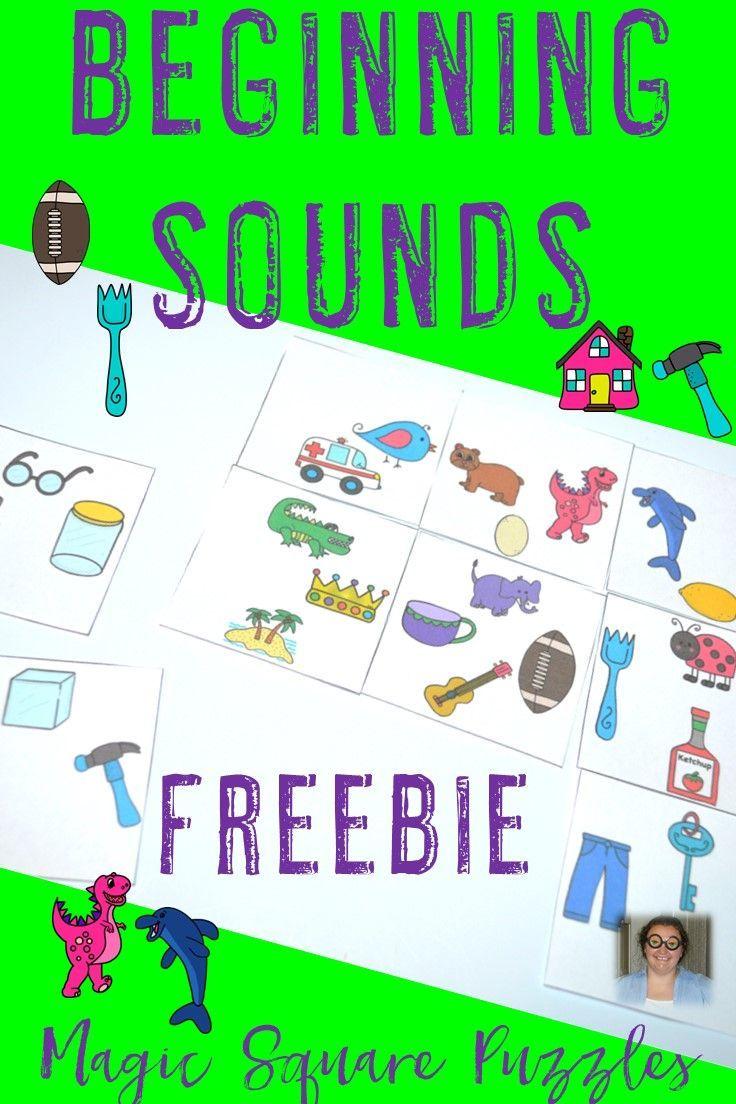 FREE Beginning Sounds Center Game Preschool rules