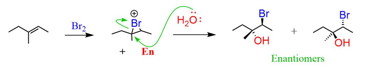 Unsymmetrical Alkene Halohydrin Enantiomers Chemistry Organic Chemistry Standardized Testing