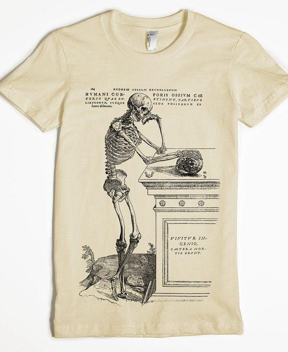 45da546f8 Skeleton Shirt - Women's T-shirt - Skull Tshirt - graphic tee ...