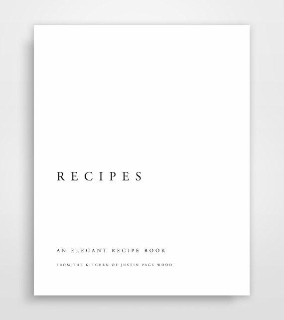 Cookbook Binder Recipe Printable Book Cook Template Kit