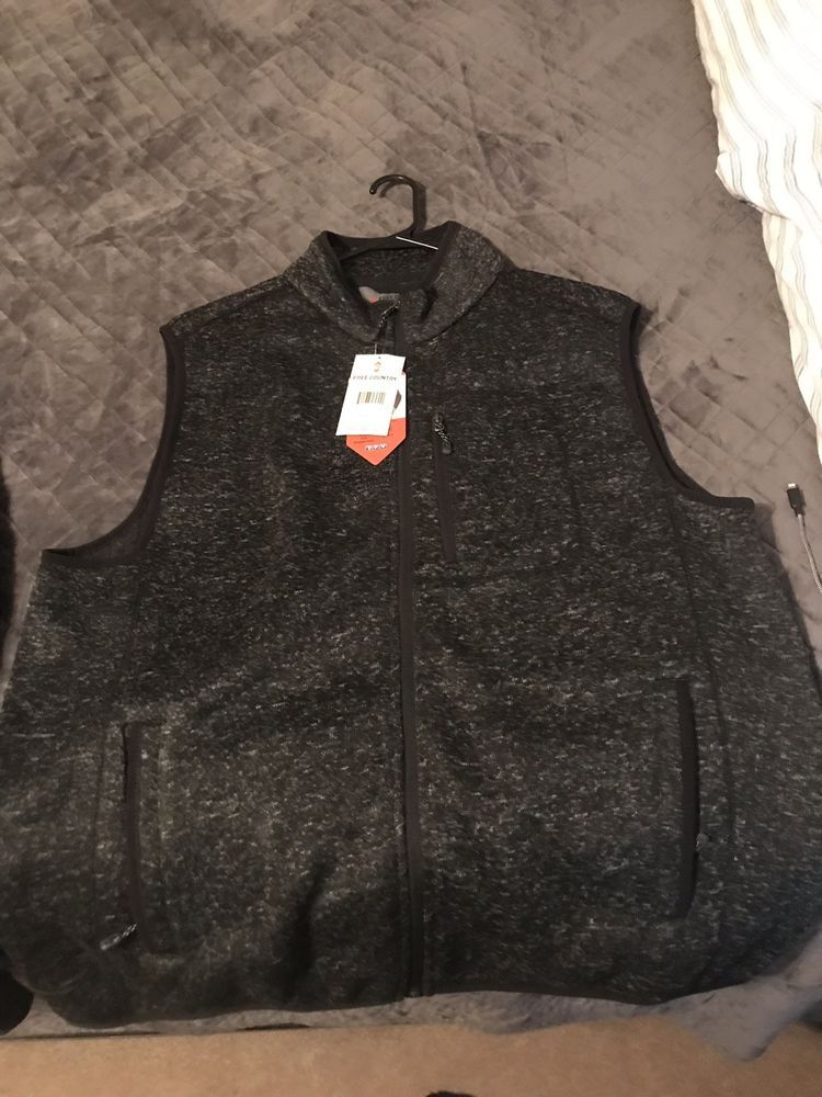 ad4f277dac171 NEW Mens  90 Free Country Full Zip Sweater Fleece Vest Black XL  fashion   clothing  shoes  accessories  mensclothing  coatsjackets (ebay link)