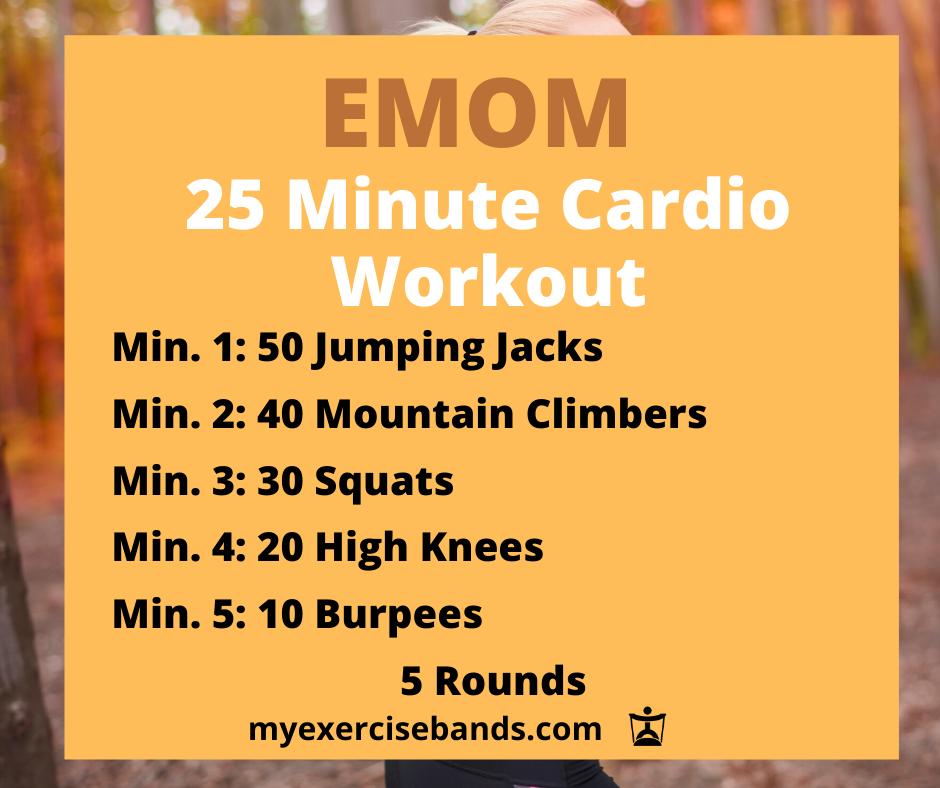 25 Minute Cardio EMOM – myexercisebands.com