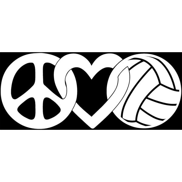 Volleyball Gifts Decals Peace Love Volleyball Jpg