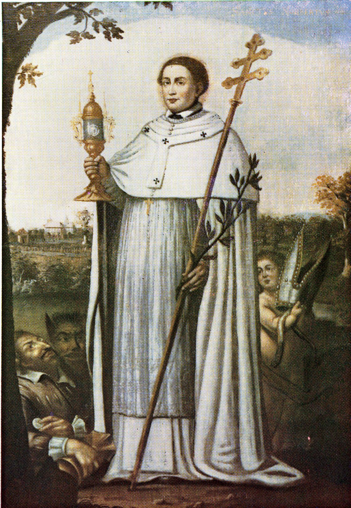 Saints And Angels Oracle Cards: Saint Norbert W/ Patriarchal Cross And Monstrance
