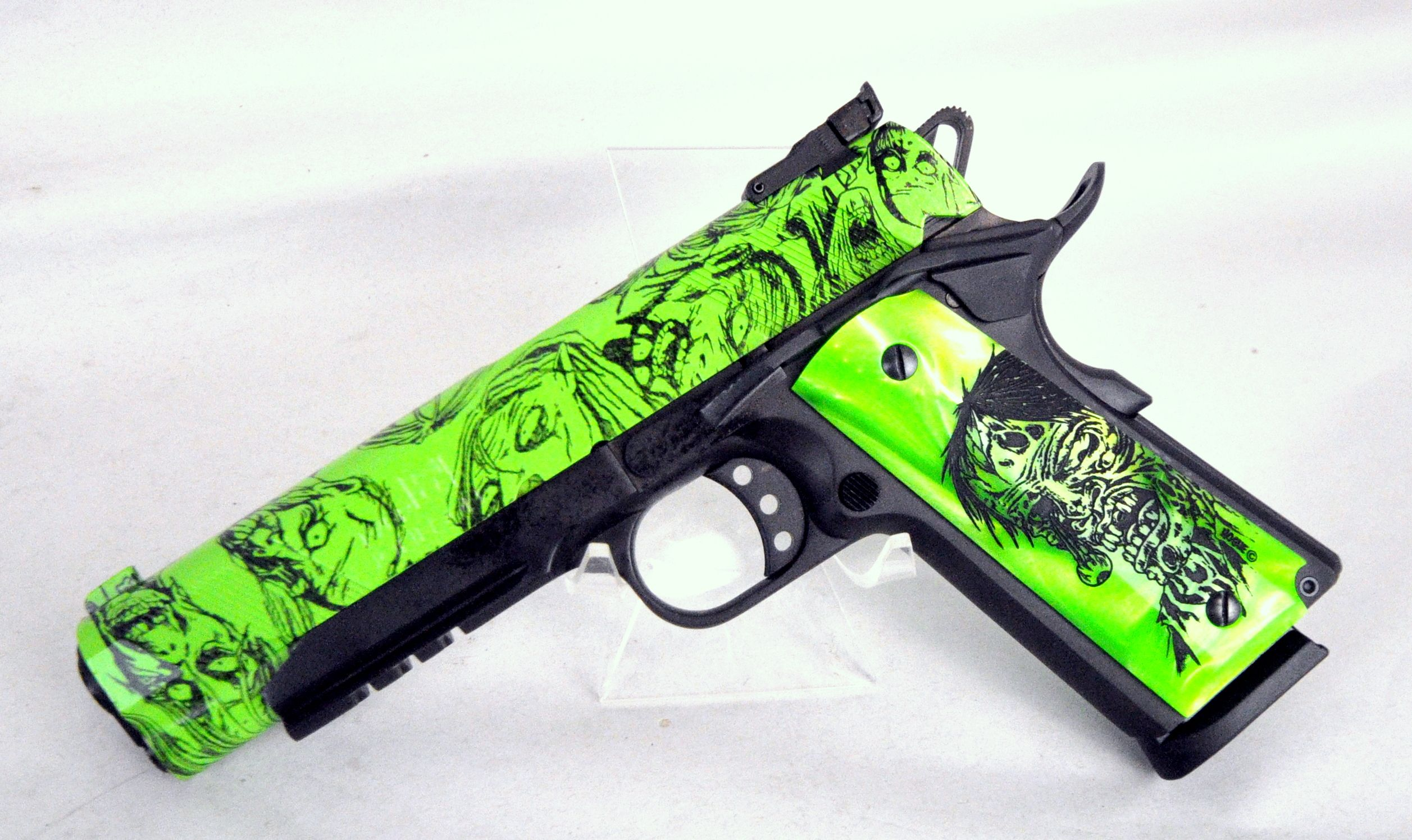 The Eagle LR Zombie from Iver Johnson is a Gov\'t-size 1911 pistol ...