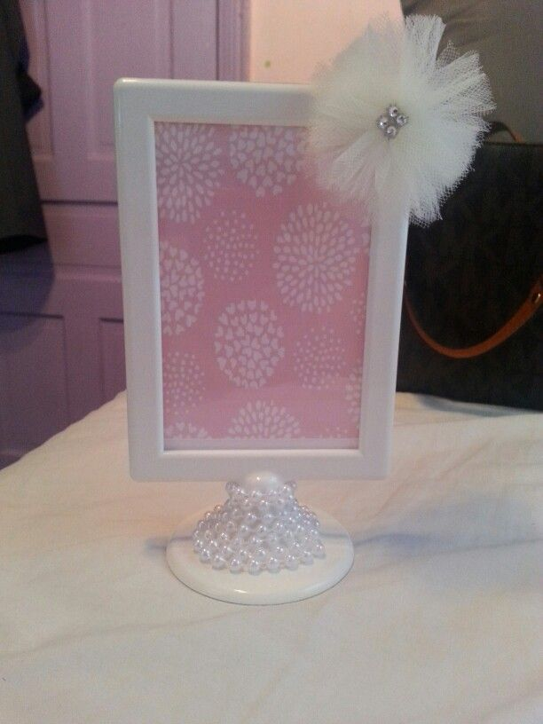 Babyshower · Diamond And Pearl Frame