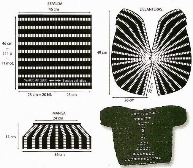 Crochet Sweaters: Crochet Bolero Pattern - Elegance | graficos ...