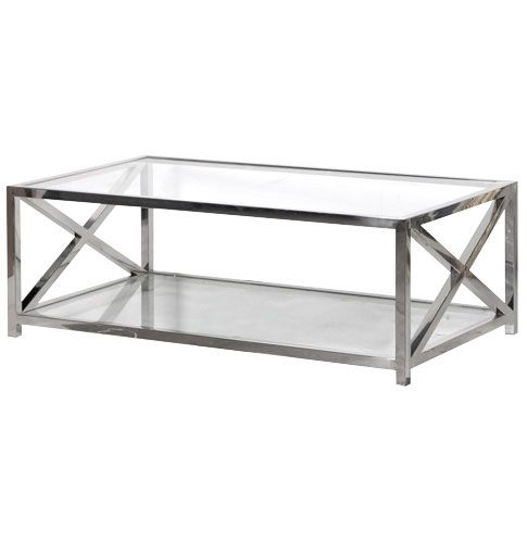 sloane chrome and glass coffee table buy from the french furniture specialist nicky cornell. Resume Example. Resume CV Cover Letter